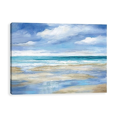 Artissimo Washy Coast, Gallery Wrapped Canvas, 36W x 24H x 1.25D Wall Art