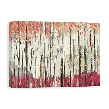 Artissimo Pink Forest, Gallery Wrapped Canvas, 36W x 24H x 1.25D Wall Art