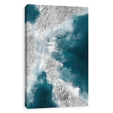 Artissimo Turquoise Feels, Gallery Wrapped Canvas, 24W x 36H x 1.25D Wall Art