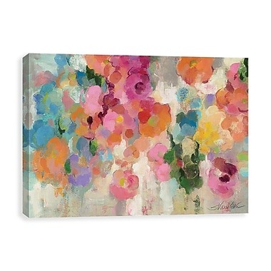 Artissimo Colorful Garden I Crop, Gallery Wrapped Canvas, 35W x 23H x 1.25D Wall Art