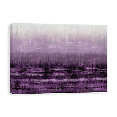 Artissimo After Glow Aubergine, Gallery Wrapped Canvas, 35W x 23H x 1.25D Wall Art