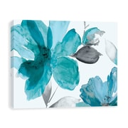 Artissimo Surrender II Teal, Gallery Wrapped Canvas, 24W x 18H x 1.25D Wall Art