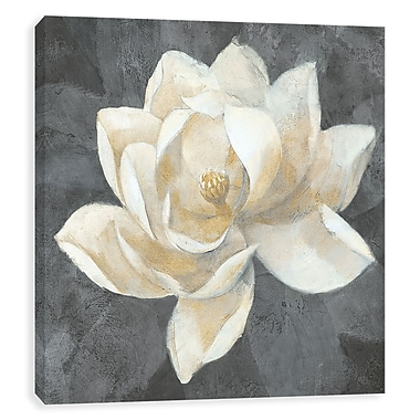 Artissimo Majestic Magnolia Neutral, Gallery Wrapped Canvas, 35W x 35H x 1.25D Wall Art