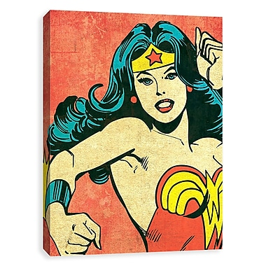 Artissimo Wonder Woman Character Crop, Gallery Wrapped Canvas, 16W x 20H x 1.25D Wall Art