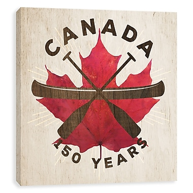 Artissimo Canada 150 Years Oars, Gallery Wrapped Canvas, 14W x 14H x 1.25D Wall Art