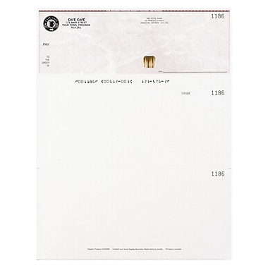 Staples Custom Cheques and Forms