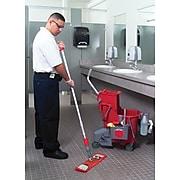 Unger® Side-Press Restroom Mop Bucket Combo, Plastic, Red, 8 gallon