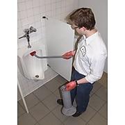 """Unger Ergo Toilet Bowl Brush System with Holder, Gray, 26"""""""