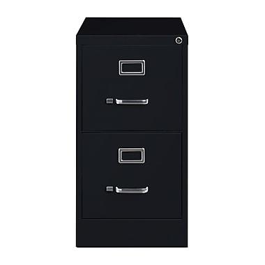 Hirsh – Classeur vertical, 25 po de profondeur, 2 tiroirs, format légal, noir (14413)