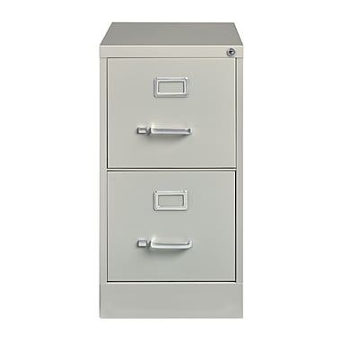 Hirsh – Classeur vertical, 25 po de profondeur, 2 tiroirs, format légal, gris (14414)