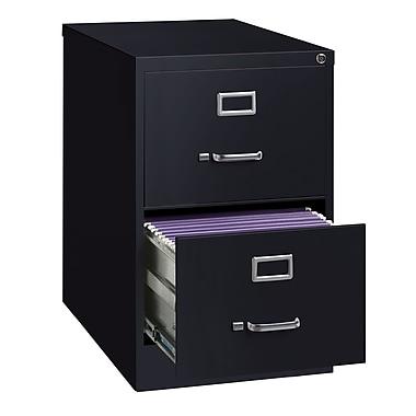 Hirsh – Classeur vertical, 26,5 po de profondeur, 2 tiroirs, format légal, noir (14419)