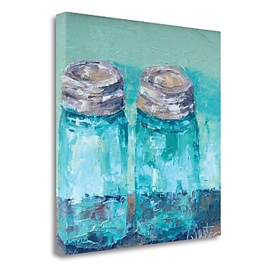 Red Barrel Studio 'Two Jars' Acrylic Painting Print on Wrapped Canvas; 25'' H x 25'' W