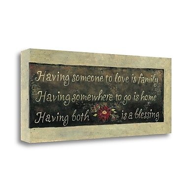 Red Barrel Studio 'Having Someone to Love' Textual Art on Wrapped Canvas; 13'' H x 32'' W