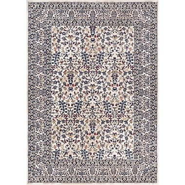Charlton Home Springport Blue/Beige/Red Area Rug; 5'3'' x 7'3''