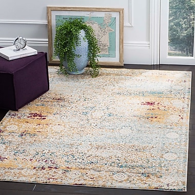 Bungalow Rose Andy Yellow Area Rug; 4' x 6'