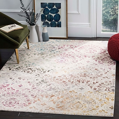 Bungalow Rose Andy Cream Area Rug; 5'1'' x 7'6''