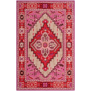 Bungalow Rose Blokzijl Hand-Tufted Wool Red Area Rug; 2' x 3'