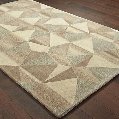 Corrigan Studio Frank Hand-Tufted Wool Beige Area Rug; 10' X 13'