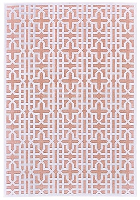 Corrigan Studio Drew Brown/White Area Rug; 5'3'' x 7'6''