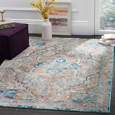 Bungalow Rose Andy Beige Area Rug; 5'1'' x 7'6''
