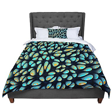 East Urban Home Danny Ivan Blobbly Pattern Comforter; King