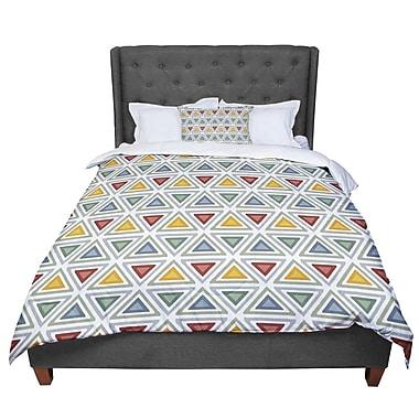 East Urban Home Julia Grifol Ikat Triangles Comforter; Queen