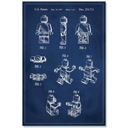 17 Stories 'Lego Man Patent' Graphic Art Print on Canvas in Blue; 48'' H x 32'' W
