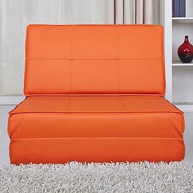 Varick Gallery Onderdonk Convertible Chair Bed; Orange