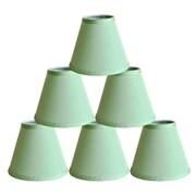Symple Stuff 6'' Satin Empire Lamp Shade (Set of 6); Olive Green