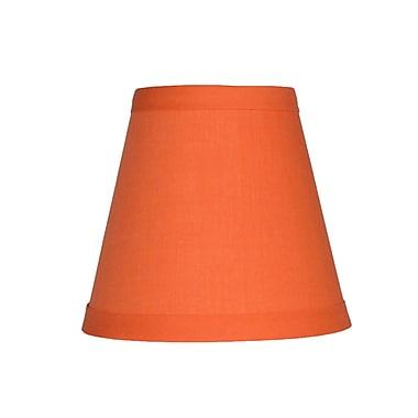 Symple Stuff 5'' Cotton Empire Clip-on Candelabra Shade; Orange
