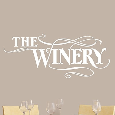 SweetumsWallDecals The Winery Wall Decal; White
