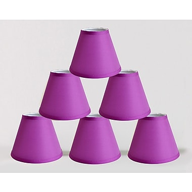 Symple Stuff 6'' Satin Empire Lamp Shade (Set of 6); Purple