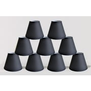 Symple Stuff 6'' Satin Empire Lamp Shade (Set of 9); Black