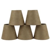 Ebern Designs 5'' Suede Empire Candelabra Shade (Set of 5); Tan