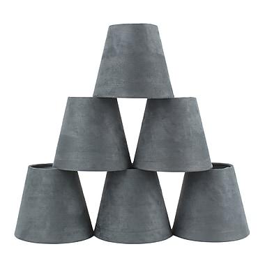 Ebern Designs 5'' Suede Empire Candelabra Shade (Set of 6); Gray
