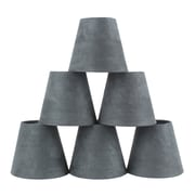 Ebern Designs 5'' Suede Empire Candelabra Shade (Set of 6); Gray