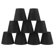 Ebern Designs 5'' Suede Empire Candelabra Shade (Set of 9); Black