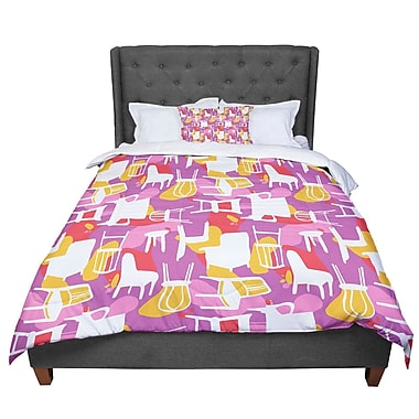 East Urban Home Luvprintz Chairs Comforter; King