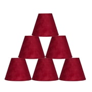 Ebern Designs 6 Piece 6'' Suede Empire Lamp Shade (Set of 6); Red