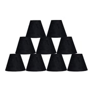 Ebern Designs 9 Piece 6'' Suede Empire Lamp Shade (Set of 9); Black