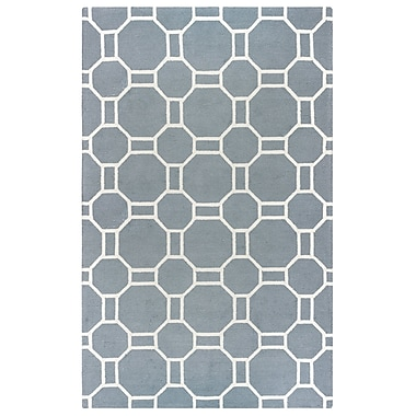 Ebern Designs Evangeline Hand-Tufted Gray Geometric Indoor/Outdoor Area Rug; 2' x 3'