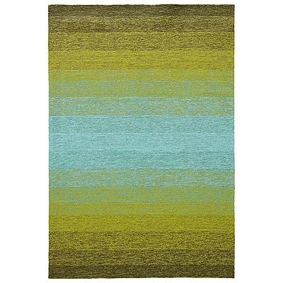 Ebern Designs Calanthe Peridot Indoor/Outdoor Area Rug; 7'6'' x 9'6''