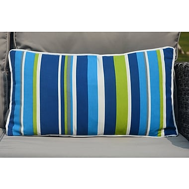 Red Barrel Studio Bedford Zippered Striped Outdoor Lumbar Pillow