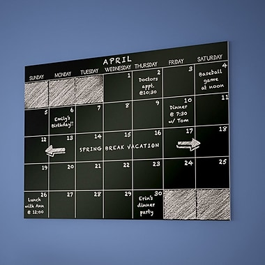 Varick Gallery Hester Street Monthly Dry Erase Calendar Chalkboard Wall Decal