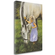 Zoomie Kids 'Grace and the Grey' Print on Wrapped Canvas; 33'' H x 25'' W