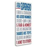 Zoomie Kids 'Real Superhero' Textual Art on Wrapped Canvas; 36'' H x 18'' W