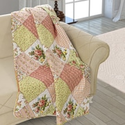 August Grove Beauville Patchwork Double Sided Multi Use Reversible Summer Carnival Quilt Blanket
