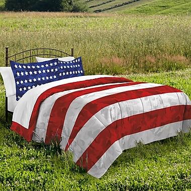 August Grove Tantalion 100pct Cotton 2 Piece Reversible Comforter Set; Full/Queen