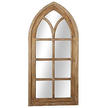 August Grove Cecil Arch Window Wall Mirror