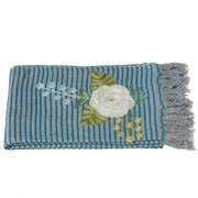 August Grove Cohutta Striped Embroidered Floral Throw
